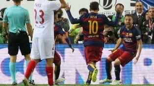 Messi tuvo un partido inspirado y metió dos asistencias de otro planeta que definieron el partido.
