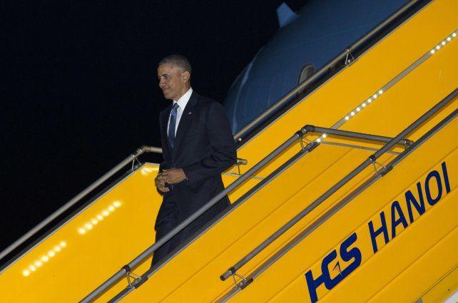 llegada. Obama es el tercer presidente estadounidense en visitar Vietnam.