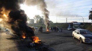 Esta mañana hubo cortes en los accesos a Villa Gobernador Gálvez.