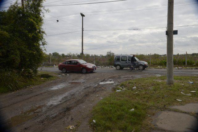 El lugar donde fue asesinado el taxista Del Greco