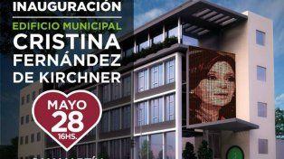 Inauguran el edificio Cristina Kirchner y esperan la visita de la expresidenta