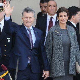 El presidente de la Nación, Mauricio Macri, en los festejos por el 25 de Mayo.