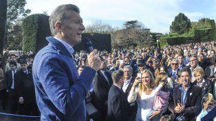 El presidente Maurcio Macri conmemoró el 25 de mayo con un locro en la Quinta e Olivos.