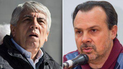 Moyano, sacado, le dedicó fuertes palabras al periodista de C5N Gustavo Sylvestre.