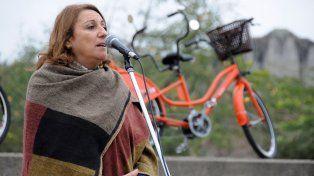 La intendenta Mónica Fein dijo que la sociedad debe admitir que hay pobreza. Hoy presentó en el Parque Irigoyen de una nueva etapa del programa Mi bici