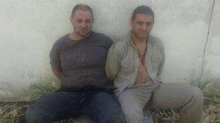 Cristian Lanatta y Víctor Schillaci al momento de ser detenidos en Santa Fe.