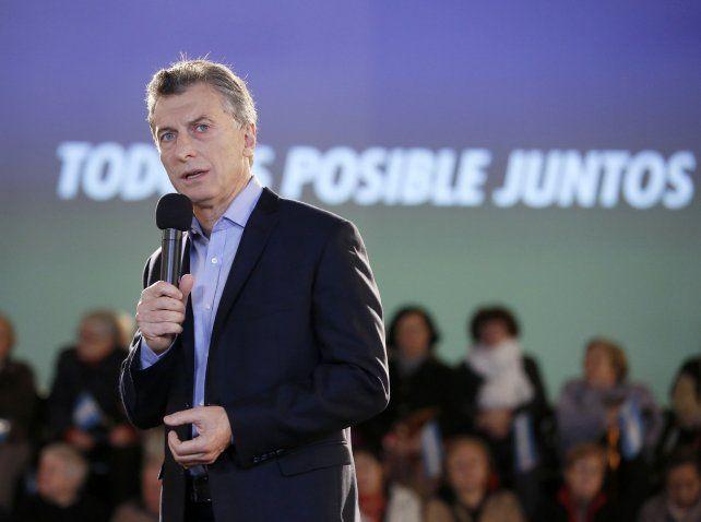 Fórmula. Macri dijo que el blanqueo contribuirá a financiar el pago de sentencias a favor de los jubilados.