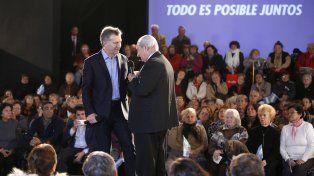 Anuncios. Macri habló con jubilados durante la presentación del proyecto de reparación histórica de los pasivos.