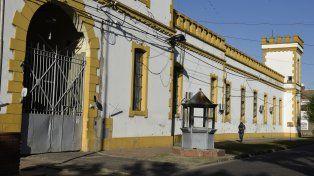 En el penal. La cárcel de Zeballos y Riccheri donde estaba alojado y falleció Gustavo Masacote Miguel