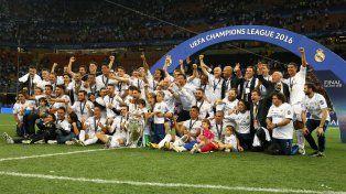 El festejo de todo Real Madrid por la conquista de la undécima Champions.