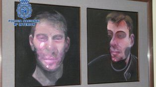 Valioso. Dos de los cuadros de Bacon que fueron robados.