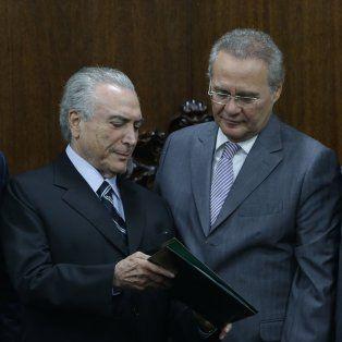 Contra las cuerdas. Juca, Temer, Calheiro y Meirelles están bajo sospecha por el escándalo de Petrobras.