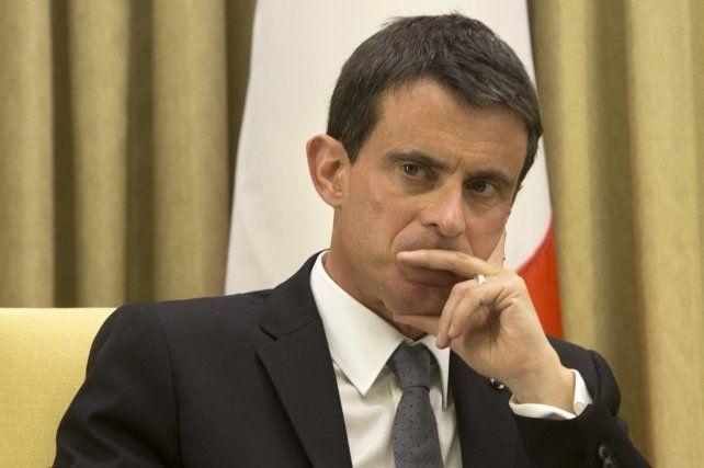 Firmeza. El premier Manuel Valls.