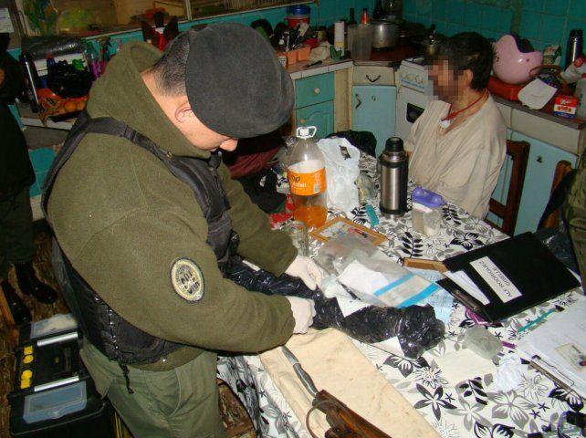Fraccionada. Gran parte de la droga hallada estaba preparada para vender.