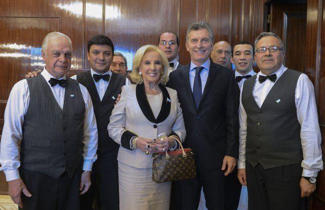 Macri recibió a La Chiqui por aproximadamente una hora y media.