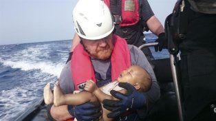 Tragedia humanitaria. La foto fue distribuida por la organización humanitaria alemana Sea-Watch.