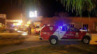 La sección de Neutralización de Explosivos trabajó anoche en Pueblo Esther.