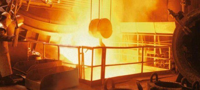Bajón. La industria del acero y el aluminio registró una retracción del 14% durante el primer cuatrimestre del año.