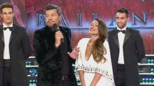 Pampita y Tinelli en la presentación del jurado de Bailando por un sueño.