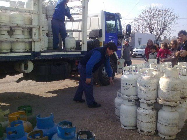 Drama social. El tema de las garrafas es uno de los que afecta a distintas localidades de la provincia.