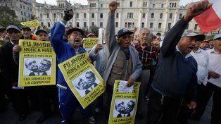 Voto crítico. Los antifujimoristas manifestaron en todo el Perú.