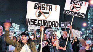 Conurbano bonaerense. Una de las tantas movilizaciones ciudadanas organizadas en reclamo de seguridad.