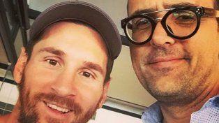 Una selfie. Messi se fotografió ayer con un reconocido publicista español.