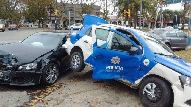 Así quedaron ambos vehículos tras el violento impacto en Sorrento y Rondeau.