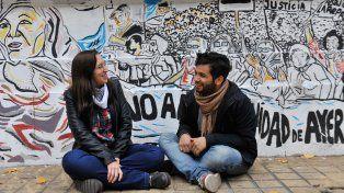 Manuela Abuela y Mauricio Albarenque. Estudian Ciencias de la Educación en la Facultad de Humanidades.