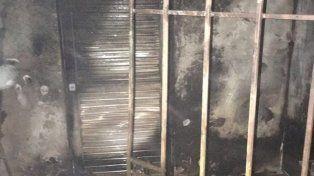 quemado. El incendio destruyó por completo la cocina del club.