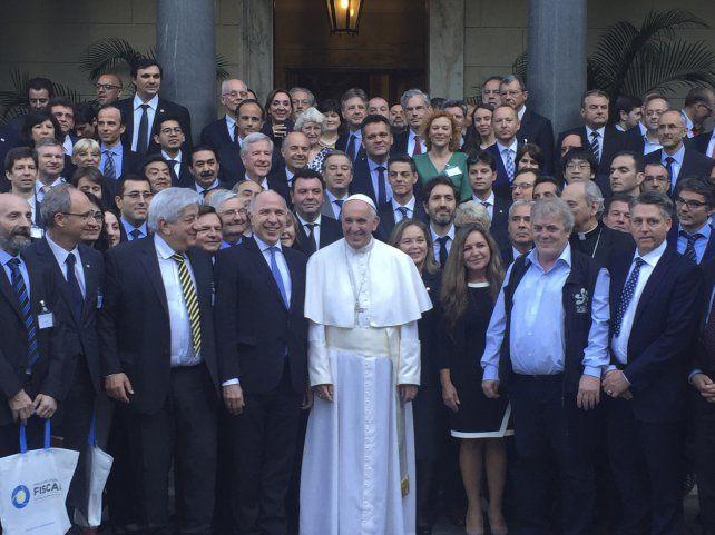 El Papa se reunió con jueces y fiscales del mundo por la trata de personas y el crimen organizado.