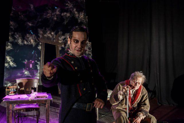 En dos cuerpos. De la Serna encarna a un Rosas joven. Y Audivert personifica al brigadier en su vejez.