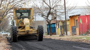 En marcha. Los trabajos se comenzaron a realizar en barrio Rivadavia
