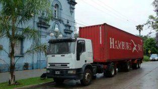 Cargado. El contenedor llevaba en una puerta trampa 1.662 kilos de droga.