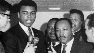 Muhammad Ali junto a Martin Luther King.