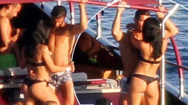 Cristiano Ronaldo se mostró muy entretenido durante sus vacaciones en Ibiza