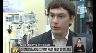 El científico fue premiado en 2011 por un proyecto grupal para destilar agua para una escuela jujeña.
