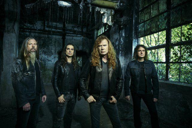 La nueva versión de Megadeth. La banda estadounidense