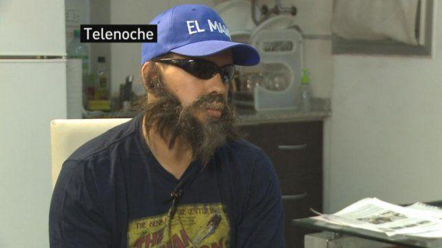 Disfraz. En octubre dio una entrevista que canal 13 emitió en enero pasado.