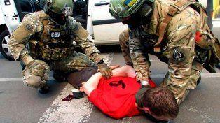 Operativo. La policía ucraniana arresta el 21 de mayo al joven de 25 años en la frontera con Polonia.
