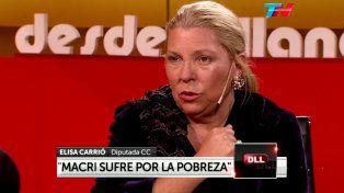 Carrió dijo que los precios bajaron, defendió a Macri y habló de grupos desestabilizadores