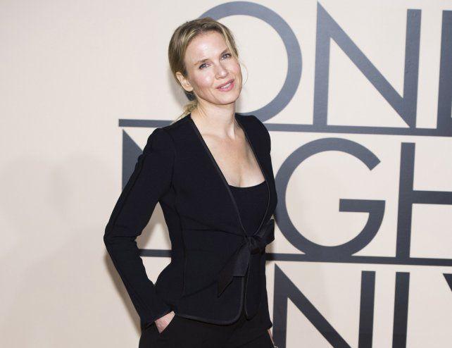 Zellweger volverá al cine en septiembre con el estreno de El bebé de Bridget Jones.