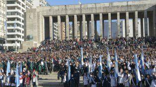 Alumnos rosarinos y de varias provincias prestaron juramento de lealtad.