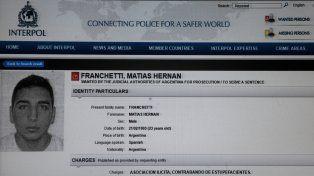 En pantalla. Ayer El cuatrero seguía en la página de Interpol con un pedido de captura ya vencido.