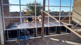 Beneficios. En la plazoleta de avenida 51 y 50 se instala la estación solar.