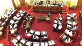 Iniciativas. Los alumnos durante su participación en la Legislatura provincial.
