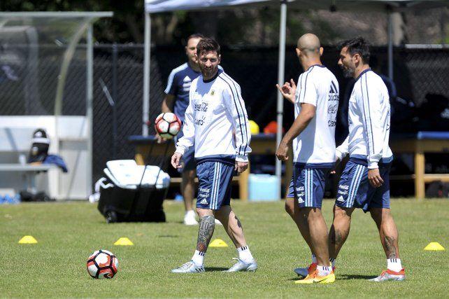 Capitán y subcapitán. Lionel Messi y Javier Mascherano