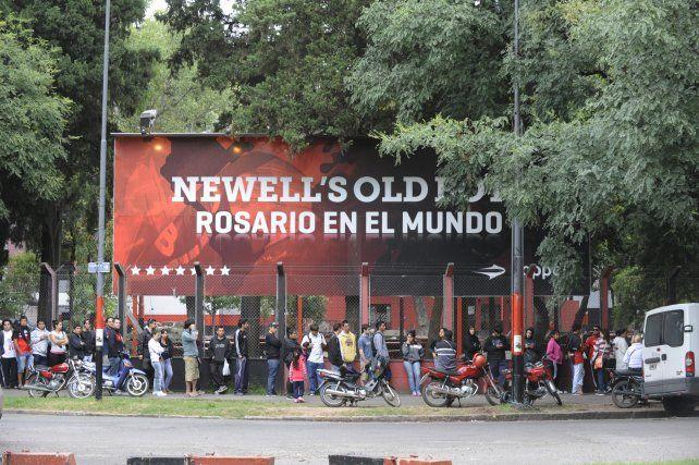 El sector de parrilleros de Newells no estará habilitado por la tarde.