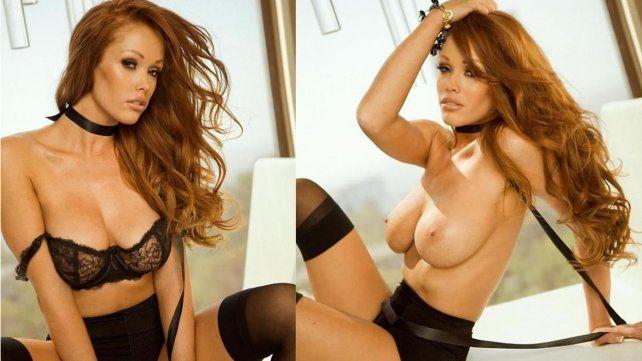 El striptease caliente de Christine Smith quedó registrado en una serie de fotos de alto voltaje
