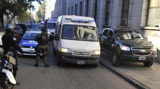 El traslado de Monchi Cantero a los tribunales se realizó en el marco de un operativo policial cinematográfico.